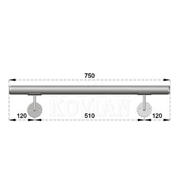 Madlo s držáky na zeď 0,75-1,5m