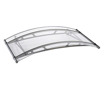 Oblouková stříška Polymer, Lightline 1480mm, nerez