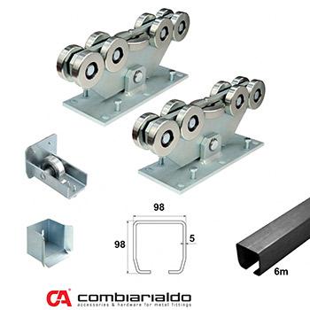 Pojezd pro posuvné brány, Combi Arialdo Medio 450kg - 8,5m