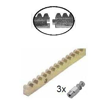Hřeben zinkovaný Crem-10K, 30x10mm, 1m