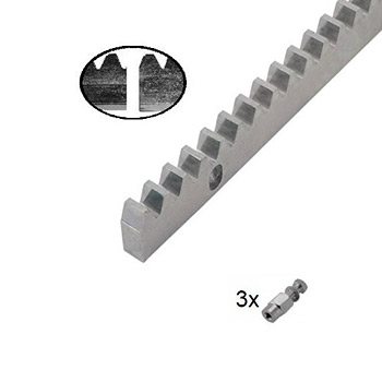 Hřeben kovový Crem-12, 30x12mm, 1m
