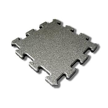 Pryžová dlažba na terasy MFL Puzzle SBR , šedá