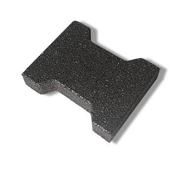 Zámková pryžová dlažba SBR, černá