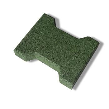 Zámková pryžová dlažba SBR, zelená