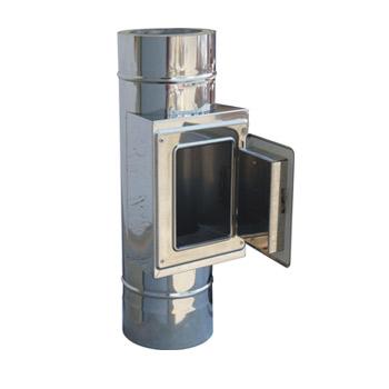 Nerezový komín, průměr 180mm, tl. izolace 50mm výška komínu: 5m