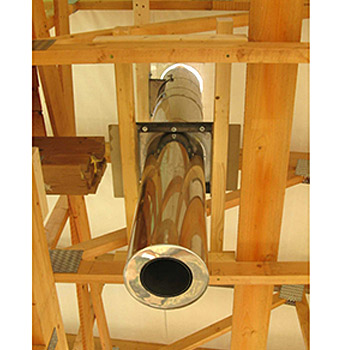 Svislý kouřovod, průměr 150mm, tl. izolace 50mm výška komínu: 3,5m