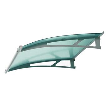 Fotografie Vchodová stříška Polymer, Lightline XL 2050mm barva saténove zelená
