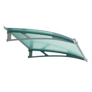 Vchodová stříška Polymer, Lightline 1500 mm, saténove zelená