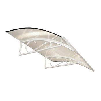 Vchodová stříška Robelit Arco, 1500x900x250mm barva: bílý rám, čirá výplň