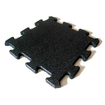 Protipádová pryžová dlažba Puzzle A, SBR, černá