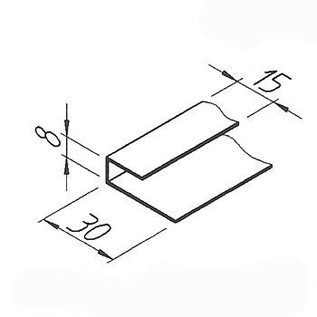 Ukončovací profil VinyTec, nízký, 8x15x30mm