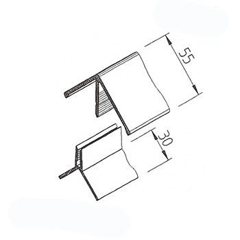 Rohový profil VinyTec, složený, 55x30mm