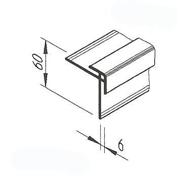 Rohový profil VinyTec, nízký, 60x15mm