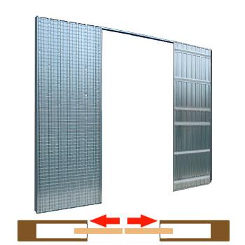 dvoukřídlé pouzdro Scrigno S - tech 1635mm