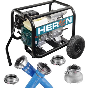 Motorové čerpadlo Heron, 6,5HP, kalové, sada