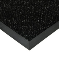 Černá textilní čistící vnitřní vstupní rohož Cleopatra Extra