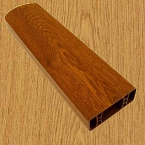 PVC foliovaná plotovka, 8076, přírodní dub
