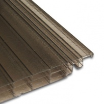 Click 16mm, polykarbonátová deska se zámkem, 0,25x6m, bronz