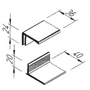 Ukončovací profil Multipaneel V2215