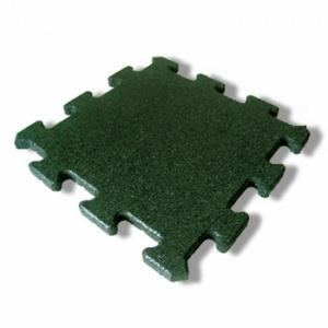 Protipádová pryžová dlažba Puzzle A, SBR, zelená
