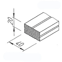 VinyTech, distanční profil V2190, 20x40mm