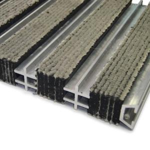 Textilní hliníková čistící vnitřní vstupní rohož Hardmat, FLOMAT - 100 x 100 x 1,8 cm