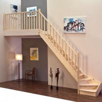 Lomené schodiště Minka Home - smrk, 850x3000mm