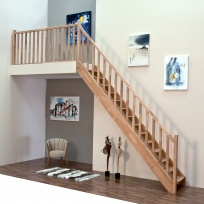 Přímé schodiště Minka Classic - buk, 850x3000mm
