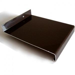 Vnější parapet, hliníkový Extrudovaný - tmavě hnědý, tl. 1,5-2,8mm