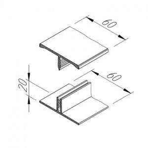 Spojovací H profil Multipaneel, V2219