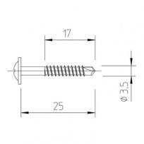 Vrut 3,5x25/17, Multipaneel, V5116