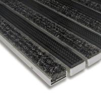 Hliníková textilní gumová čistící vnitřní vstupní rohož Alu Standard - 100 x 100 x 1,7 cm