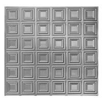 Plech černý - lisovaný vzor čtverce 3D, I PFEZ2/12
