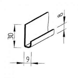 Zakládací profil VinyTec, V2560