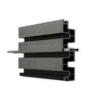 WPC lamelová deska Duo Fuse, DF4B20, grafitově černá