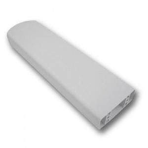 PVC plotový profil, 001, bílý