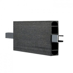 WPC ohradová deska Duo Fuse, DF3B12, grafitově černá