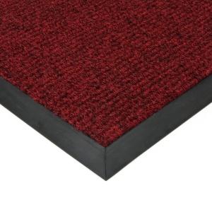 Červená textilní zátěžová čistící rohož Catrine