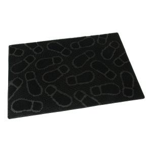 Gumová vstupní kartáčová rohož Shoes - 90 x 60 x 1 cm