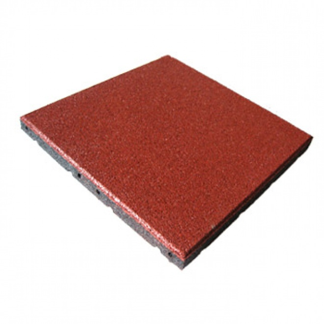 Pryžová dlažba MFL čtverec SBR, pro terasy, červená