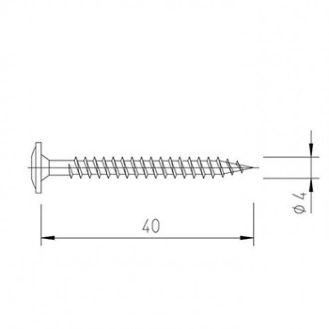Vrut 4x40, Multipaneel, V5142