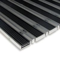 Gumová hliníková čistící venkovní vstupní kartáčová rohož Alu Low Extra - 100 x 100 x 1 cm