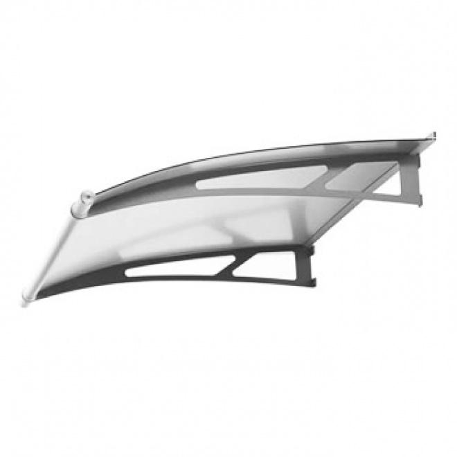 Nerezová vchodová stříška Lightline XL 205 x 142 cm