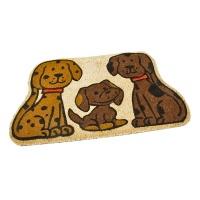 Kokosová vstupní rohož Happy Dogs - 75 x 45 x 1,7 cm