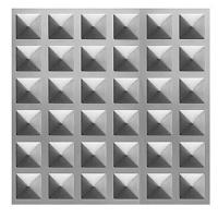 Plech černý - lisovaný vzor pyramidy 3D, I PFEZ1/12