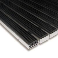 Gumová hliníková čistící venkovní vstupní rohož Alu Standard - 100 x 100 x 1,7 cm