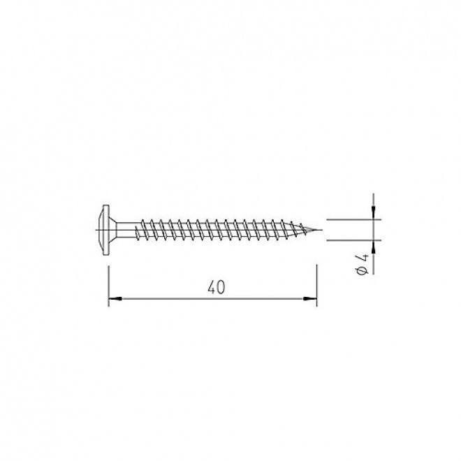 Nerezový vrut vinyPlus V5143 pro desky vinyPlus