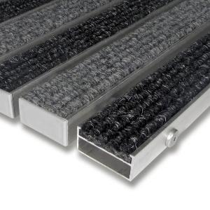 Textilní hliníková čistící vstupní vnitřní rohož Alu Wide - 100 x 100 x 2,2 cm