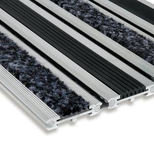 Textilní gumová hliníková čistící vstupní rohož Wella, FLOMAT - 100 x 100 x 1,4 cm