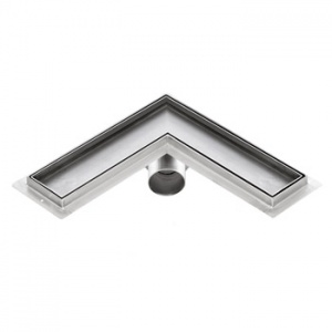 Sprchový žlab rohový pro obklad, KFLm, 500x500mm
